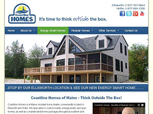 Coastline Homes of Maine Website Thumbnail